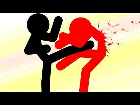 Мультяшный Нарисованный Герой Стикмен против Зомби в игре для мальчиков Age Of Stick 5
