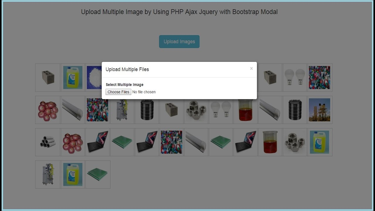 Upload Multiple Files by Using PHP Ajax Jquery with Bootstrap Modal