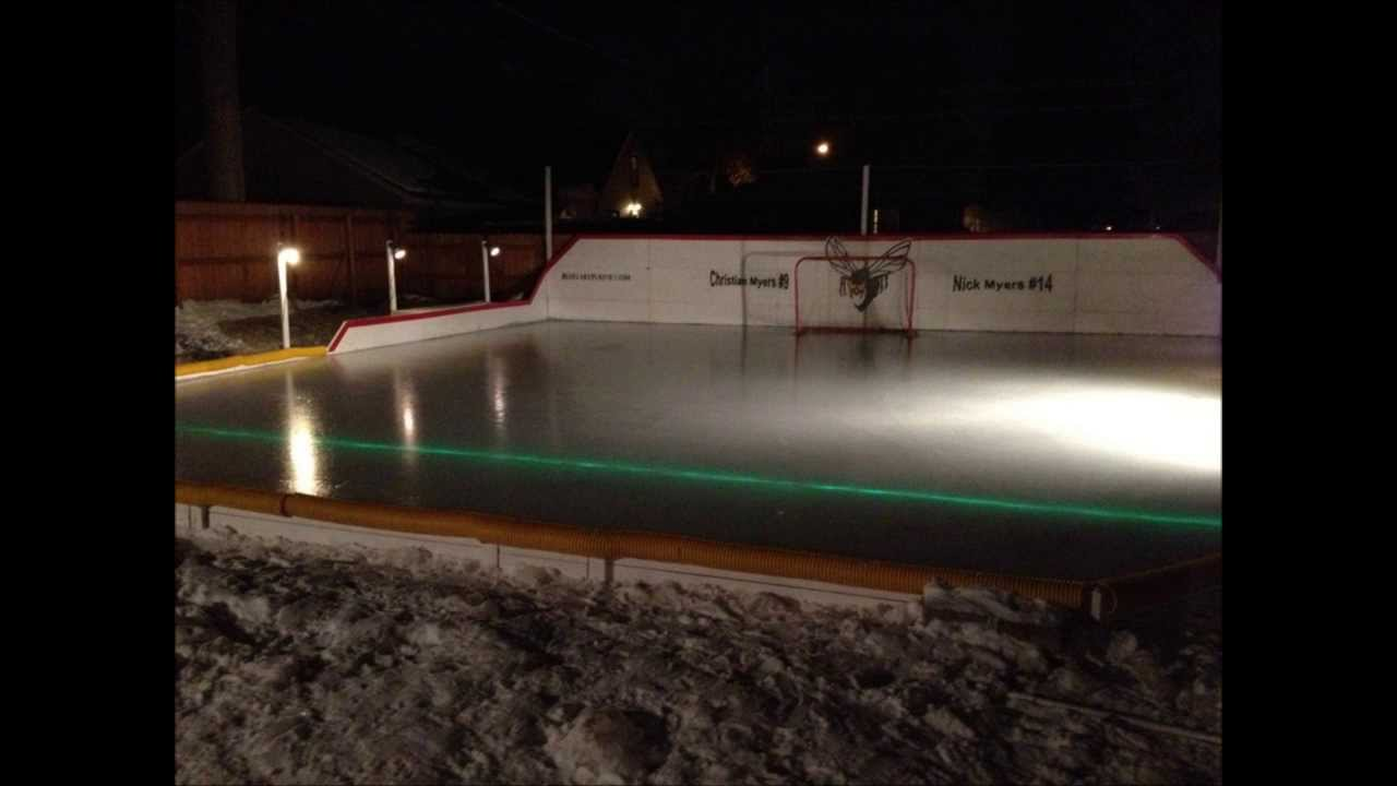 how to build an ice rink youtube