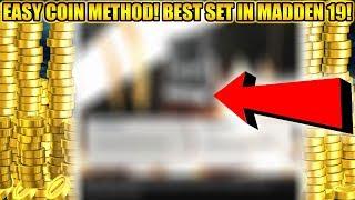 SUPER EASY COIN MAKING METHOD! BEST SET IN MADDEN 19! EASY COINS! | MADDEN 19 ULTIMATE TEAM