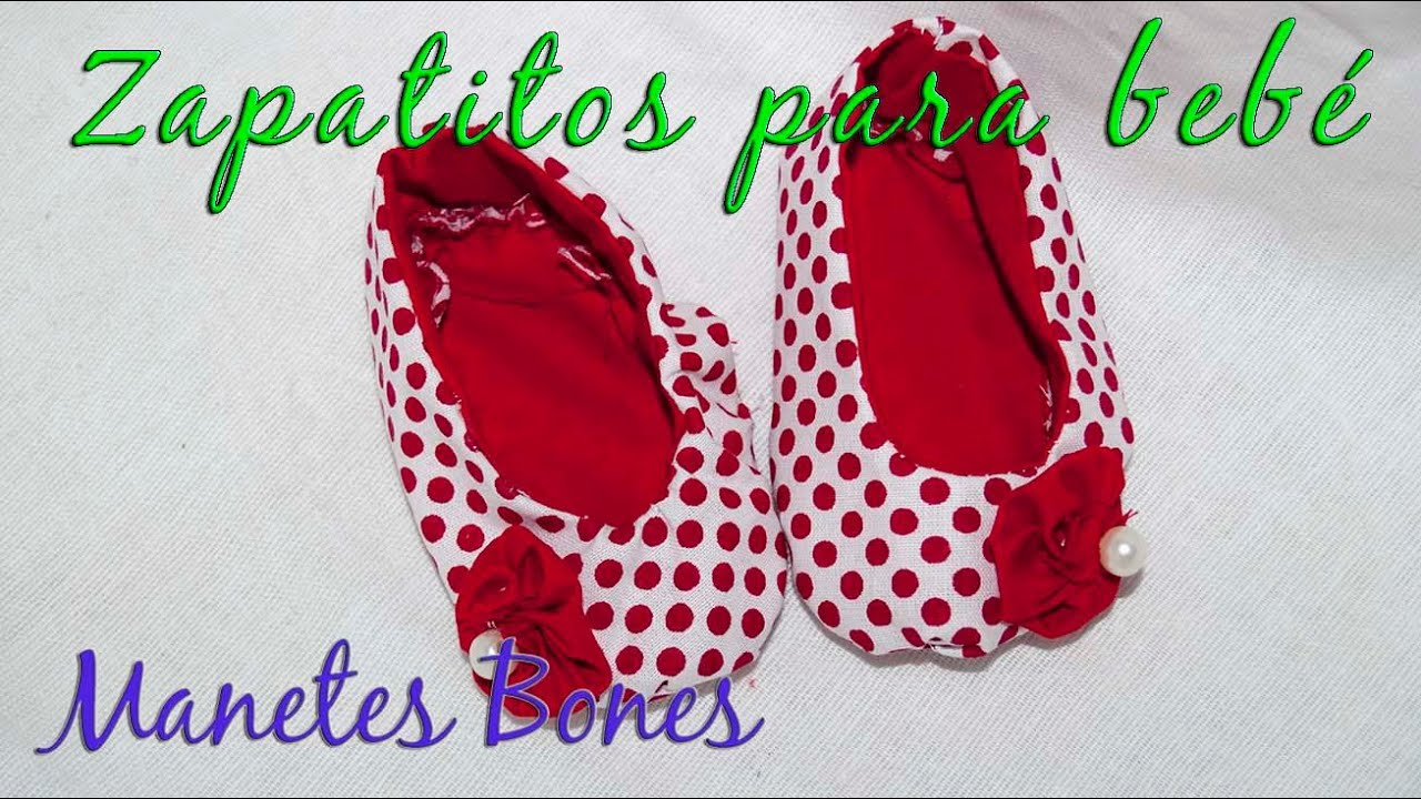 Zapatitos de bebé con patrón | Videotutorial - YouTube