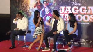 Katrina asked Ranbir Kapoor 'Tu peeke aaya kya' at the Jagga Jasoos song launch | SpotboyE