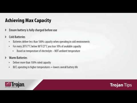Trojan Tips 7 Understanding Battery Capacity Life Expectations