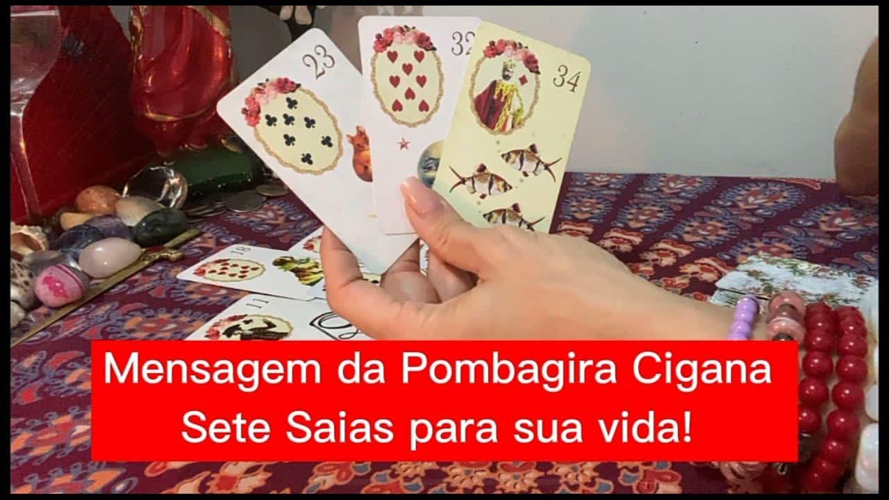 Download Mensagem da Pombagira Cigana Sete Saias para sua vida! ♣️♥️♠️♦️ 47 99288-3491