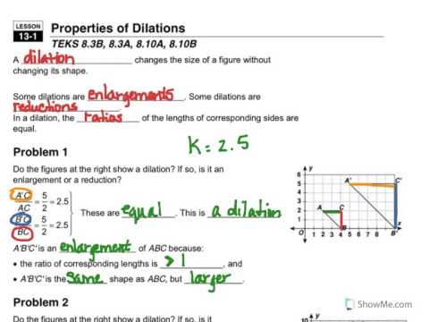 13 1 Properties of Dilations - YouTube