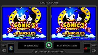 Sonic 3 & Knuckles (PC vs Sega Genesis) Side by Side Comparison