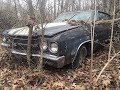 Triple Black Skunk 1970 Chevelle SS396 L78 Rescued From The Woods In Arkansas