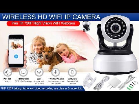 How to Setup Wireless Ip Security wifi Camera 720p Night Mini Vision Home Network -  wifi ip camera