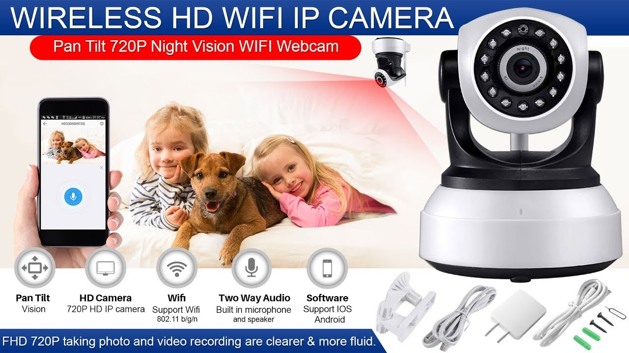 Wireless 1080P HD Security IP Network Camera WIFI CCTV Indoor Night Vision Cam