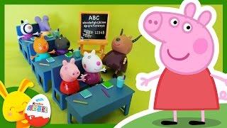 Peppa Pig à l'école - Histoire de jouets - Touni Toys - Titounis