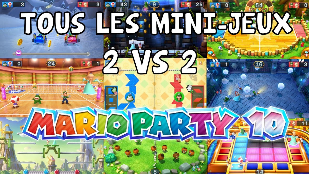 let 39 s play episode 8 mario party 10 fr nintendo wii u tous les mini jeux 2 vs 2 youtube. Black Bedroom Furniture Sets. Home Design Ideas