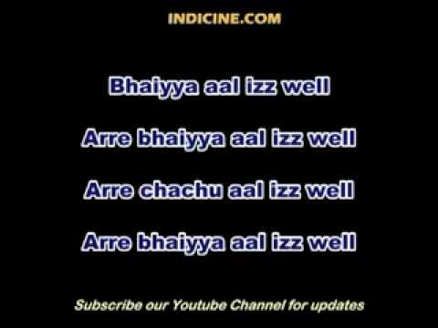 Aal Izz Well Lyrics.avi