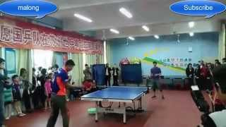 Ma Long - show super technique to childr...