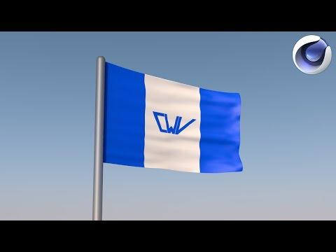 Tutorial Cinema 4D-Cum sa faci un steag animat || Animated Flag