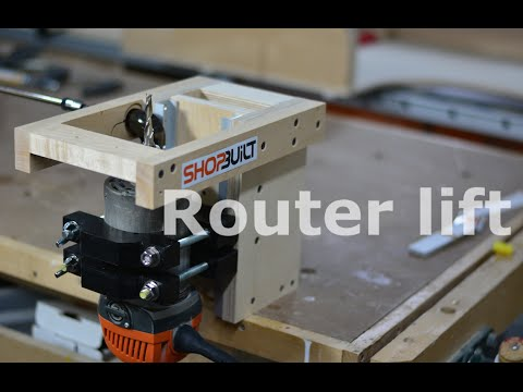 Shop built - Router Lift