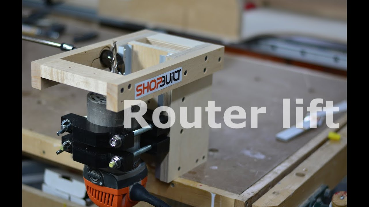 Shop built router lift youtube greentooth Gallery