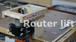 Shop built - Router Lift