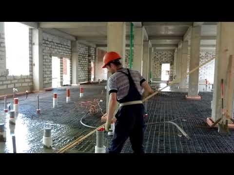 Гигантская заливка бетона. Будни беларусского плотника-бетонщика 4 разряда))