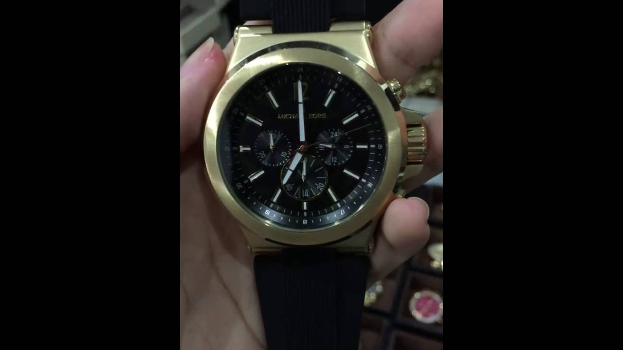 16b1618d17d8 MICHAEL KORS Dylan Black Dial Men s Chronograph Watch MK8445 - YouTube