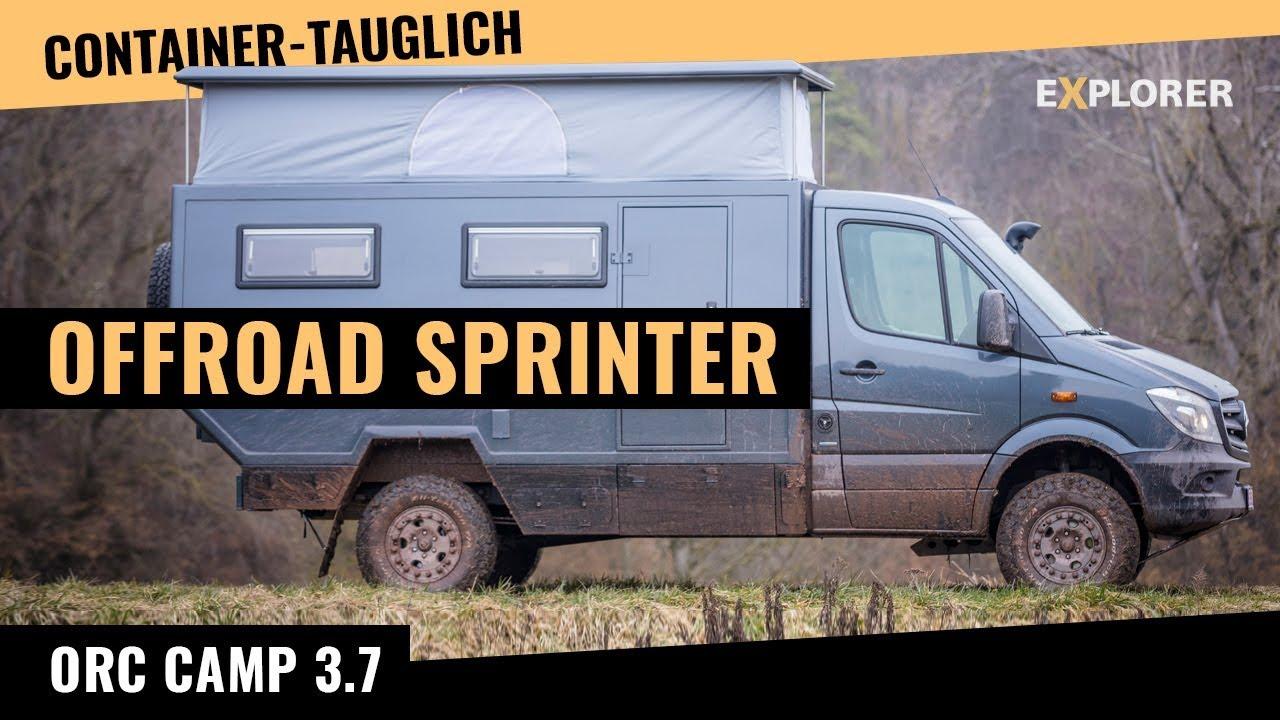 sprinter 4x4 wohnmobil mit hubdach containertauglich doovi. Black Bedroom Furniture Sets. Home Design Ideas
