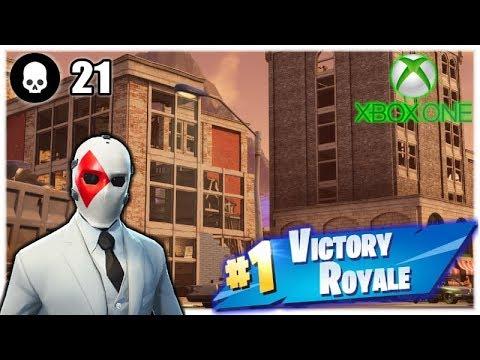 21 Kills Solo Season 5 Gameplay | Fortnite Battle Royale (Xbox One S) - Tendai