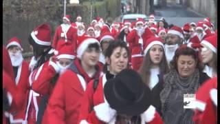Pisogne, in 704 alla corsa dei Babbo Natale