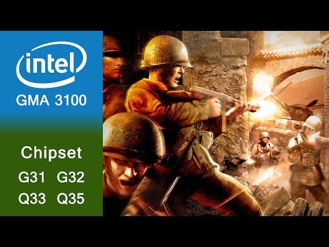 Call Of Duty 2 Gameplay Intel GMA 3100 |