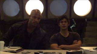 The 100 On-Set Interview with Ricky Whittle and Bob Morley Thumbnail
