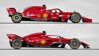 Comparatif entre les F1 2018 et 2021
