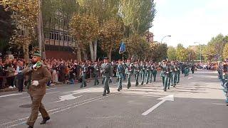 Desfile en Pamplona por la celebración de la patrona de la Guardia Civil, la Virgen del Pilar