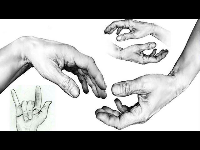 КАК нарисовать КИСТИ РУК карандашом  Простой способ