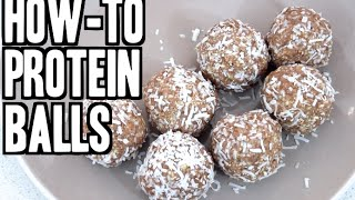 How To Make Protein Balls - Choc Caramel, Super Easy & Healthy!