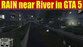 RAIN near City River in GTA 5 - 2 hours for SLEEPING, RELAXING…