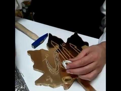 Filografi Ayna zeminler üzerine çivi çakımı