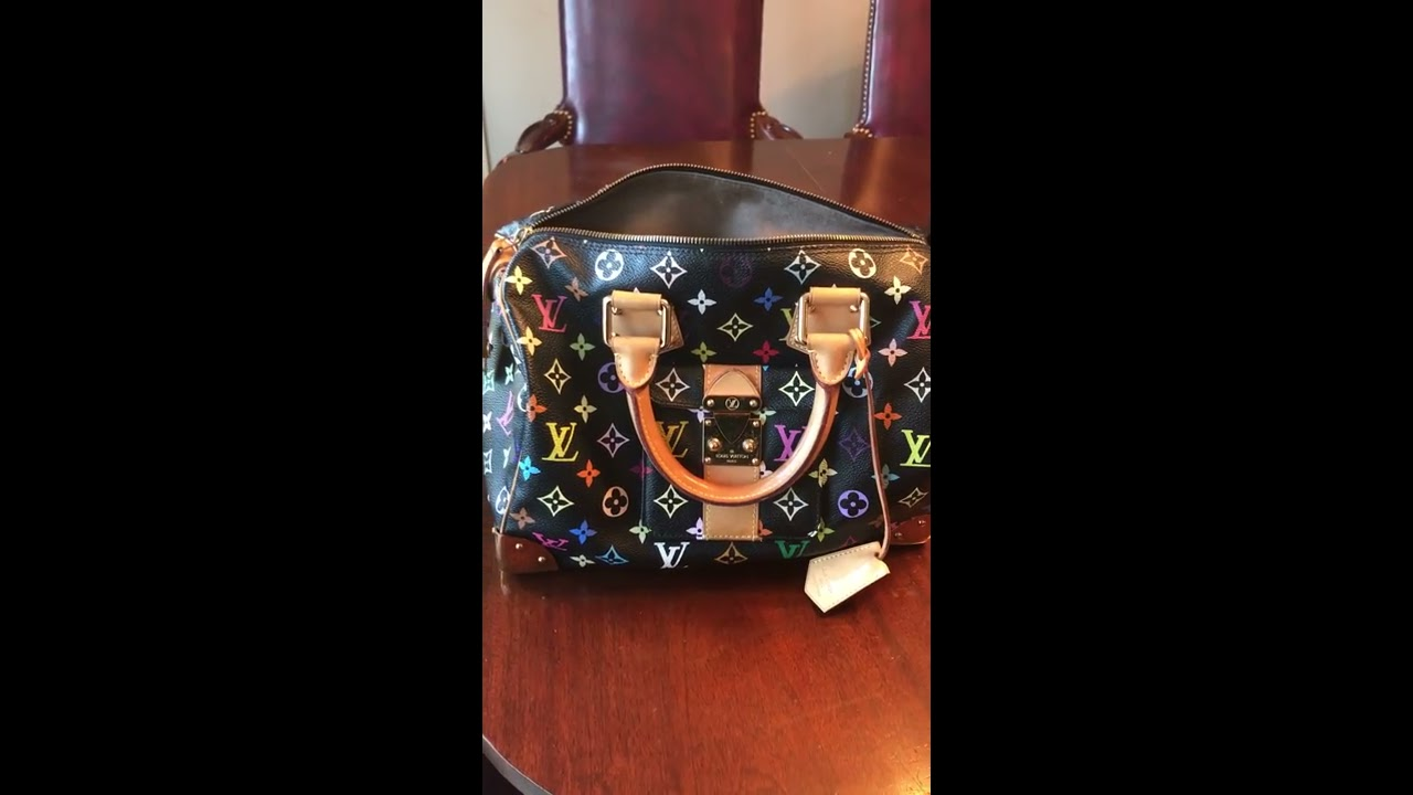 ecfb8422ec4a How to Spot Authentic Louis Vuitton Multicolor Speedy Bag and Where to Find  Date Code!
