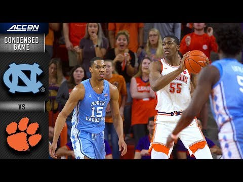 North Carolina vs. Clemson Condensed Game | 2018-19 ACC Basketball