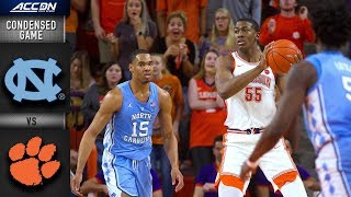 North Carolina vs. Clemson Condensed Game | 2018-19 ACC Basketball