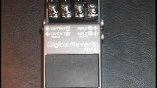 BOSS RV-5 Digital Reverb electric guitar effects pedal demo