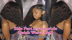Side Part Asymmetric Bob Cut & Color Protective Quick Weave Style | Ali Pearl Hair