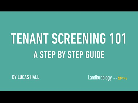 Webinar: Tenant Screening 101(Sep 29, 2014) - A Step by Step Guide to Evaluating Applicants