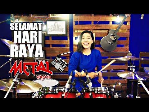 Selamat Hari Raya | METAL Version | Drum Cover by Nur Amira Syahira