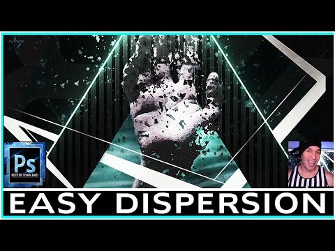 EASY Photoshop Dispersion! Effect Using Clone Tool Tutorial