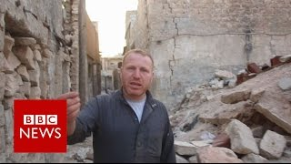 Man who refuses to leave Aleppo - BBC News