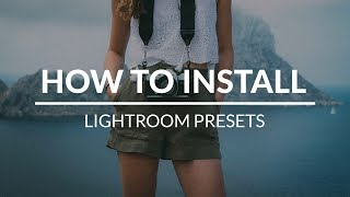 How to Install PHLEARN Lightroom Presets