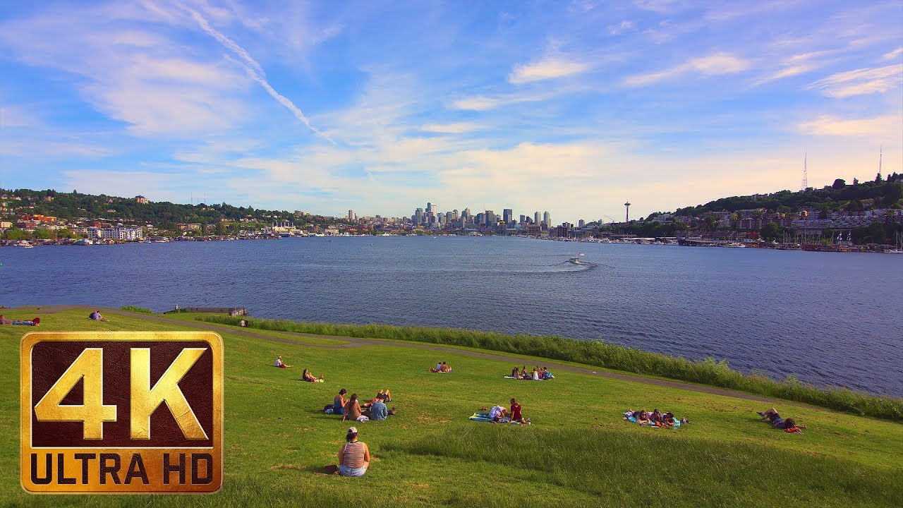 View from Gas Works Park in Seattle - 4K (Ultra HD) City Life  - Trailer