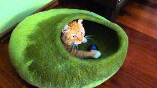 Felted Cat Cave Part 3