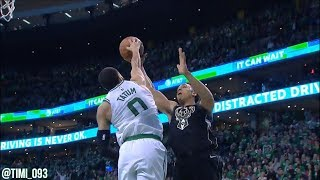 Boston Celtics R1G1 Defensive Highlights vs Milwaukee Bucks (04/15/2018)