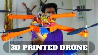 3D printed quadcopter DRONE || test fly