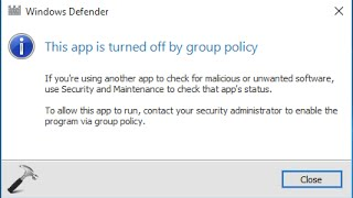 How to TURN ON/ ENABLE windows defender by group policy FIXED SOLVED !!! Windows 10  |  8.1 | 8 | 7