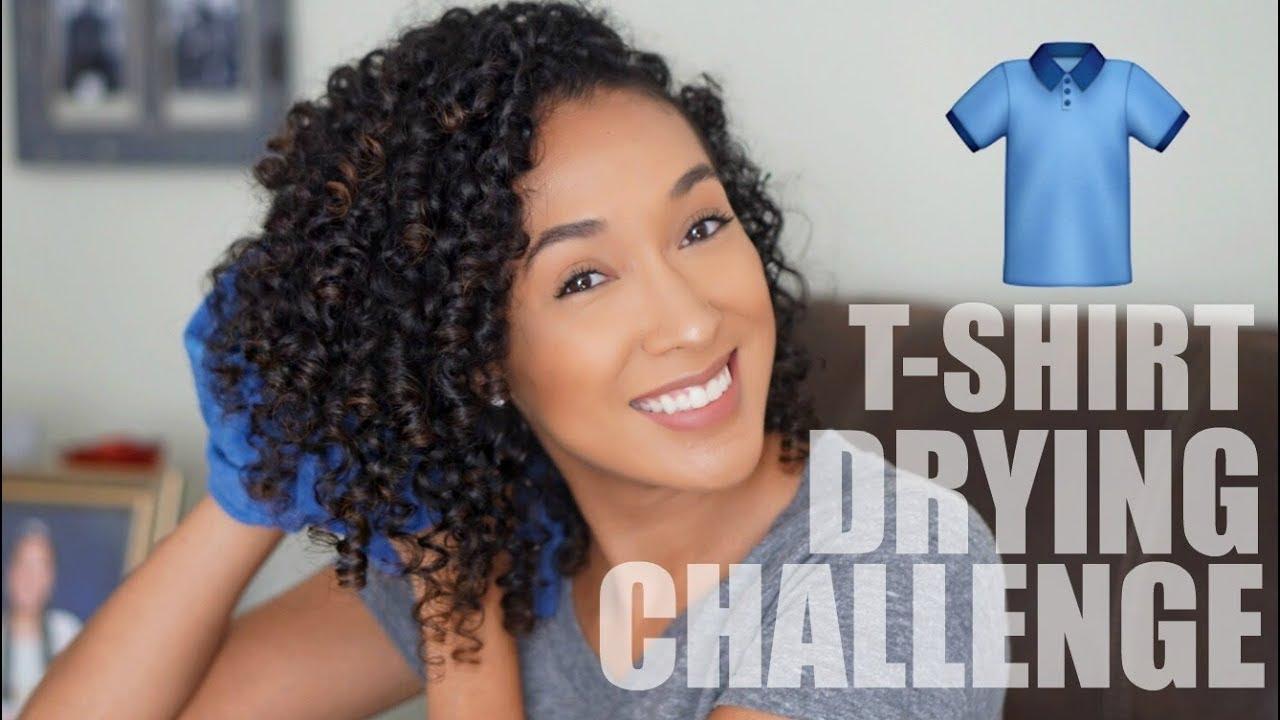 T Shirt Drying Challenge Drying Naturally Curly Hair Risasrizos